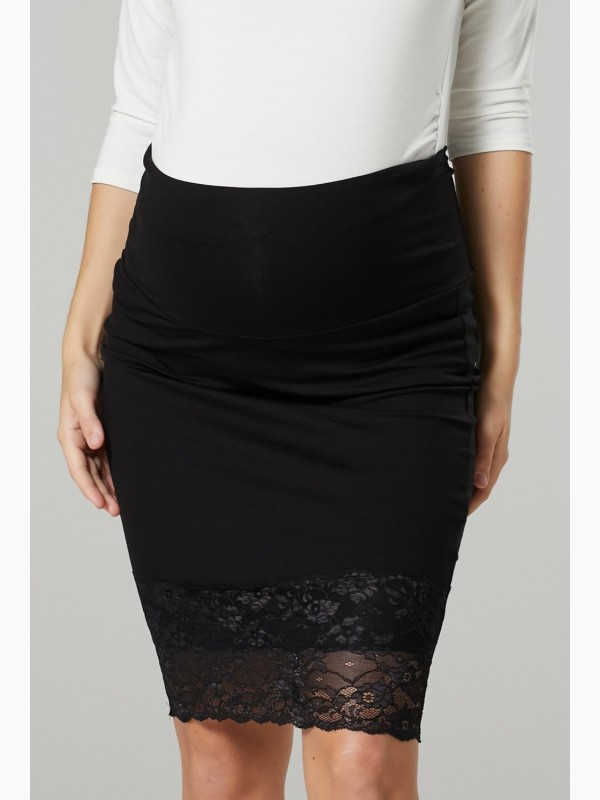 Women's Maternity Skirt with Lace