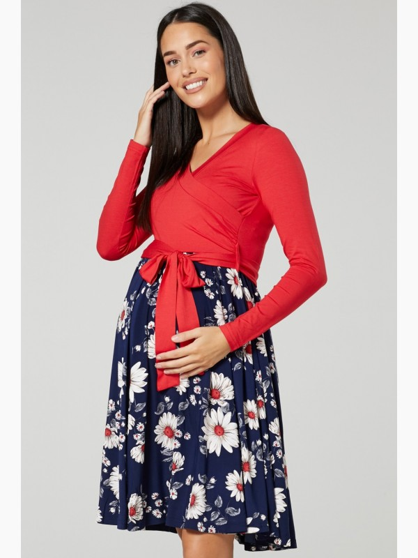 Maternity Tied Waist Dress