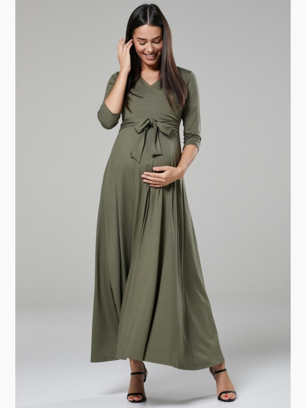 Maternity Nursing Layered Maxi Dress