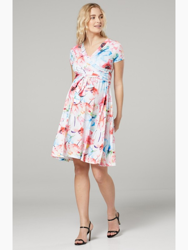 Maternity Nursing Flower Print Dress
