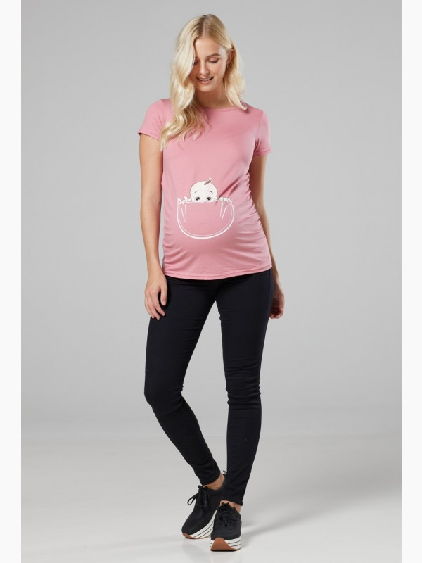 Baby in Pocket Maternity Top