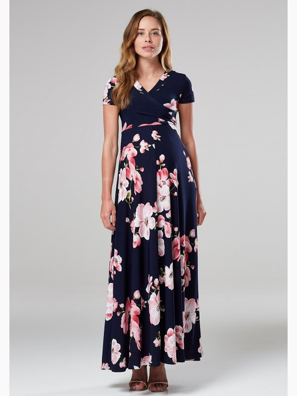 Maternity Nursing Maxi Printed Dress
