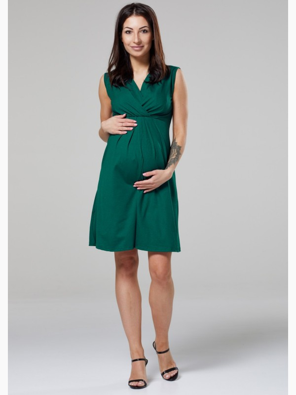 Nursing Maternity Layered Neck Dress